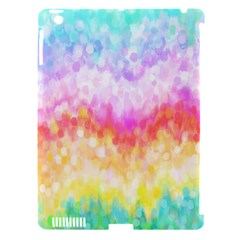 Rainbow Pontilism Background Apple Ipad 3/4 Hardshell Case (compatible With Smart Cover)