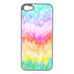 Rainbow Pontilism Background Apple Iphone 5 Case (silver)