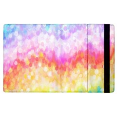 Rainbow Pontilism Background Apple Ipad 3/4 Flip Case