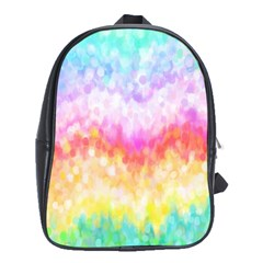 Rainbow Pontilism Background School Bags (XL)