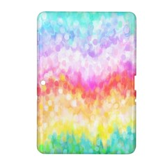 Rainbow Pontilism Background Samsung Galaxy Tab 2 (10.1 ) P5100 Hardshell Case