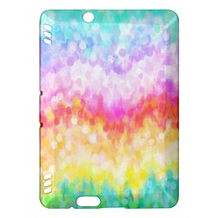 Rainbow Pontilism Background Kindle Fire Hdx Hardshell Case