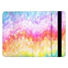 Rainbow Pontilism Background Samsung Galaxy Tab Pro 12 2  Flip Case
