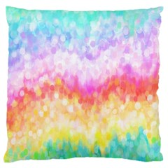 Rainbow Pontilism Background Standard Flano Cushion Case (Two Sides)