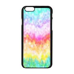 Rainbow Pontilism Background Apple Iphone 6/6s Black Enamel Case
