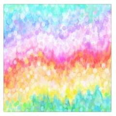 Rainbow Pontilism Background Large Satin Scarf (square)