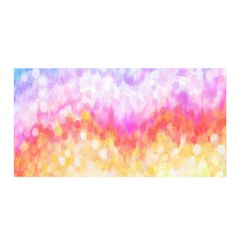 Rainbow Pontilism Background Satin Wrap