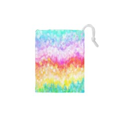 Rainbow Pontilism Background Drawstring Pouches (XS)