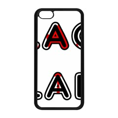 Black Lab Canadian Flag In Name Apple iPhone 5C Seamless Case (Black)