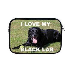Black Lab Love W Pic Apple iPad Mini Zipper Cases