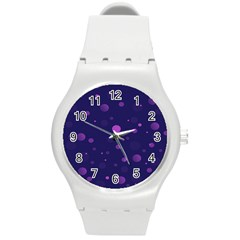 Decorative Dots Pattern Round Plastic Sport Watch (m)