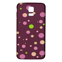 Decorative dots pattern Samsung Galaxy S5 Back Case (White)