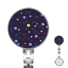 Decorative dots pattern Stainless Steel Nurses Watch