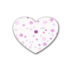 Decorative Dots Pattern Rubber Coaster (heart)