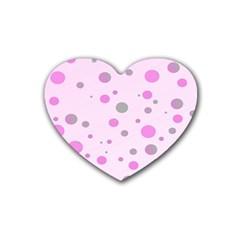 Decorative Dots Pattern Rubber Coaster (heart)