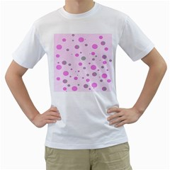 Decorative dots pattern Men s T-Shirt (White)
