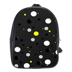 Decorative Dots Pattern School Bags (xl)