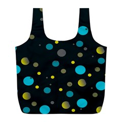 Decorative dots pattern Full Print Recycle Bags (L)
