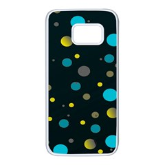 Decorative Dots Pattern Samsung Galaxy S7 White Seamless Case