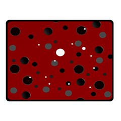 Decorative dots pattern Double Sided Fleece Blanket (Small)