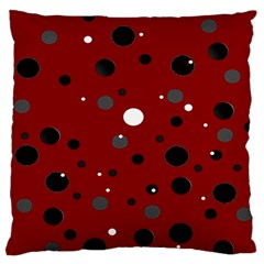 Decorative dots pattern Large Flano Cushion Case (Two Sides)