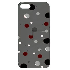 Decorative Dots Pattern Apple Iphone 5 Hardshell Case With Stand