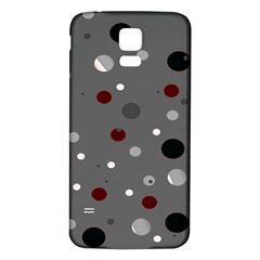 Decorative dots pattern Samsung Galaxy S5 Back Case (White)