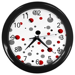 Decorative Dots Pattern Wall Clocks (black)