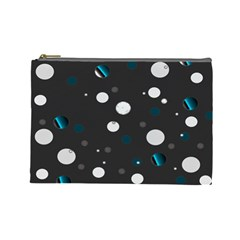 Decorative Dots Pattern Cosmetic Bag (large)
