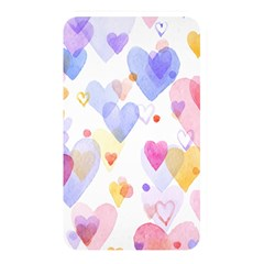 Watercolor Cute Hearts Background Memory Card Reader