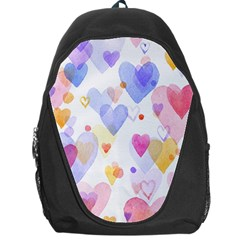 Watercolor cute hearts background Backpack Bag