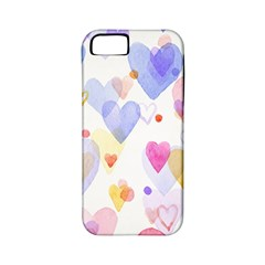 Watercolor cute hearts background Apple iPhone 5 Classic Hardshell Case (PC+Silicone)