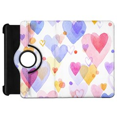 Watercolor cute hearts background Kindle Fire HD 7
