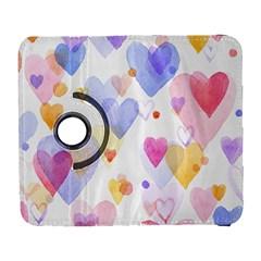 Watercolor cute hearts background Galaxy S3 (Flip/Folio)