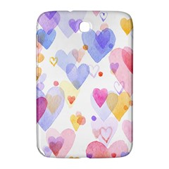 Watercolor cute hearts background Samsung Galaxy Note 8.0 N5100 Hardshell Case
