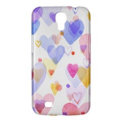 Watercolor cute hearts background Samsung Galaxy Mega 6.3  I9200 Hardshell Case