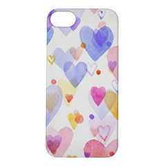 Watercolor cute hearts background Apple iPhone 5S/ SE Hardshell Case