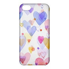 Watercolor cute hearts background Apple iPhone 5C Hardshell Case