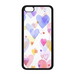 Watercolor cute hearts background Apple iPhone 5C Seamless Case (Black)