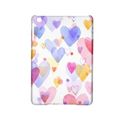 Watercolor cute hearts background iPad Mini 2 Hardshell Cases