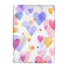 Watercolor cute hearts background Galaxy Note 1