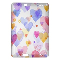 Watercolor cute hearts background Amazon Kindle Fire HD (2013) Hardshell Case