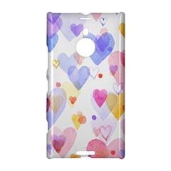 Watercolor cute hearts background Nokia Lumia 1520