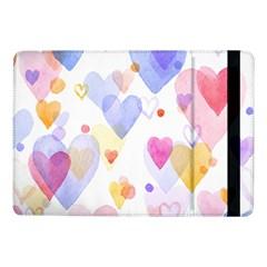 Watercolor cute hearts background Samsung Galaxy Tab Pro 10.1  Flip Case