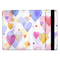 Watercolor cute hearts background Samsung Galaxy Tab Pro 12.2  Flip Case