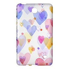 Watercolor cute hearts background Samsung Galaxy Tab 4 (7 ) Hardshell Case