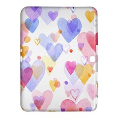 Watercolor cute hearts background Samsung Galaxy Tab 4 (10.1 ) Hardshell Case