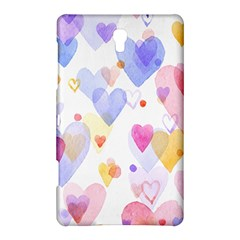 Watercolor cute hearts background Samsung Galaxy Tab S (8.4 ) Hardshell Case