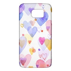 Watercolor cute hearts background Galaxy S6