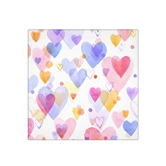 Watercolor cute hearts background Satin Bandana Scarf